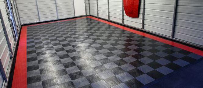 Облицовка бетонного пола в гараже