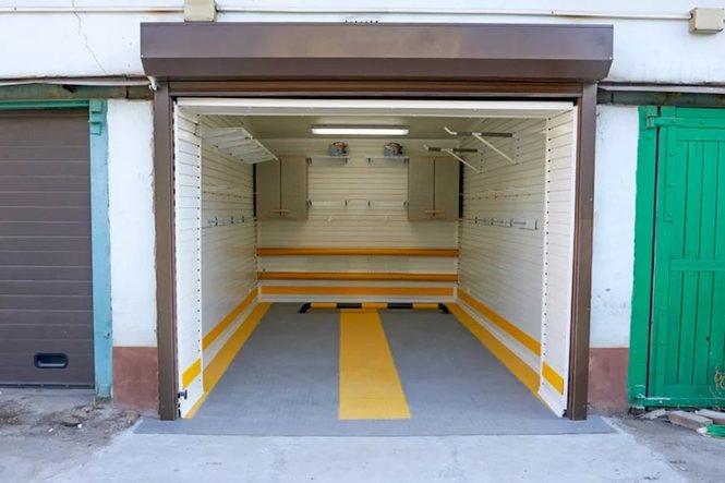 Покраска внутри гаража