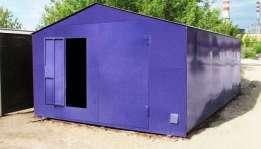 Покраска металлического гаража