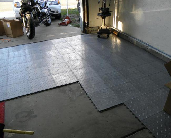 Ремонт пола в гараже и укладка напольного покрытия