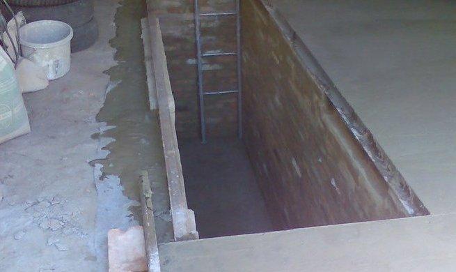 Ремонт пола в гараже с ямой кессоном