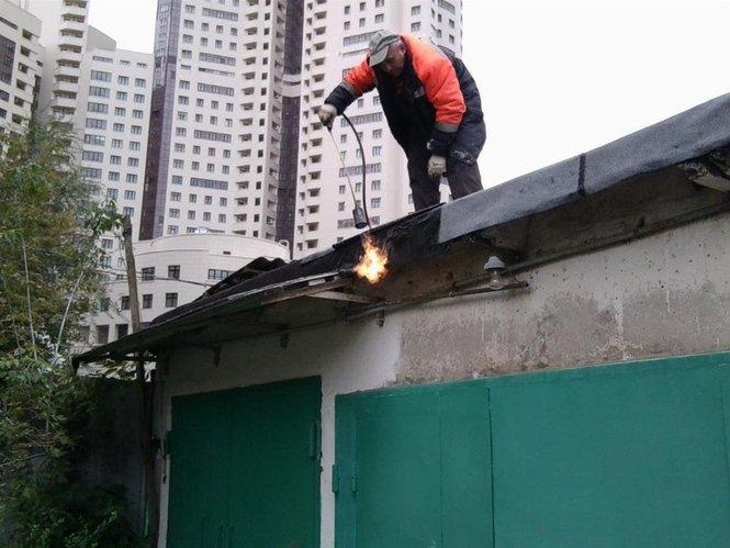 Гидроизоляция крыши руберойдом