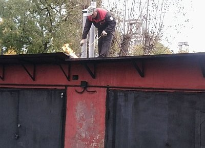 Гидроизоляция крыши металлического гаража руберойдом